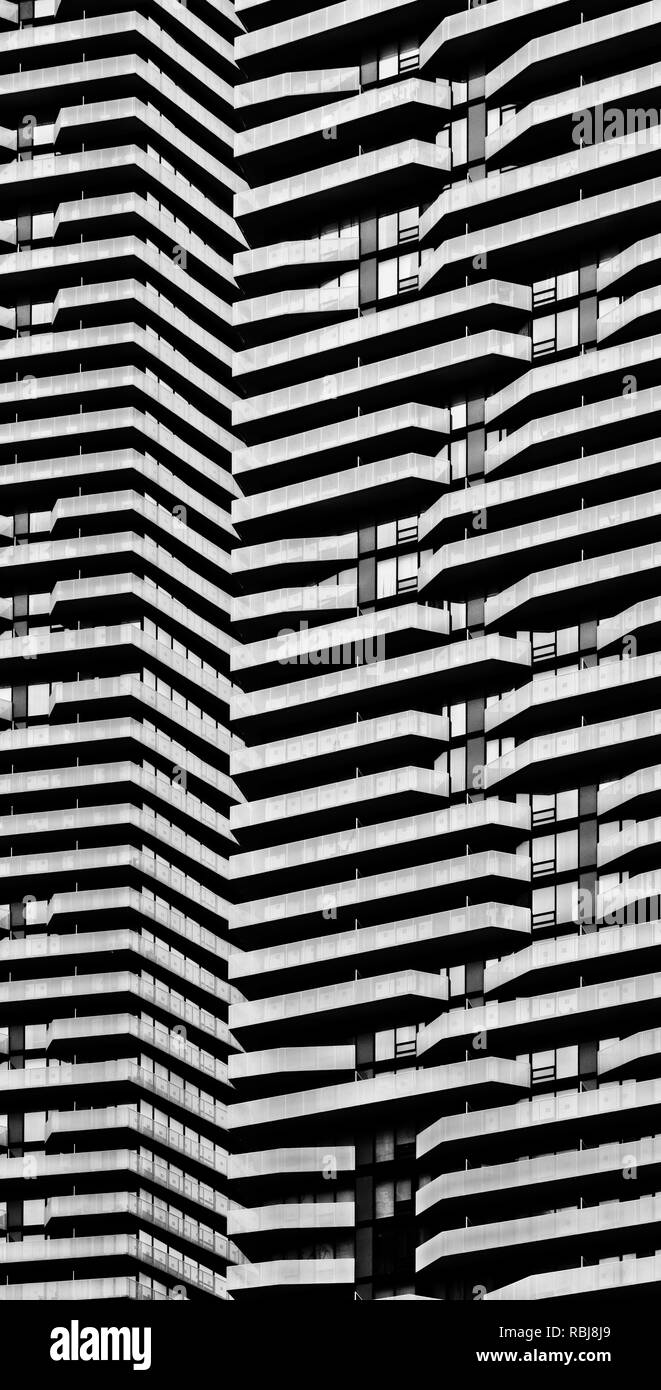 Modern architecture details in Toronto Canada - Stock Image