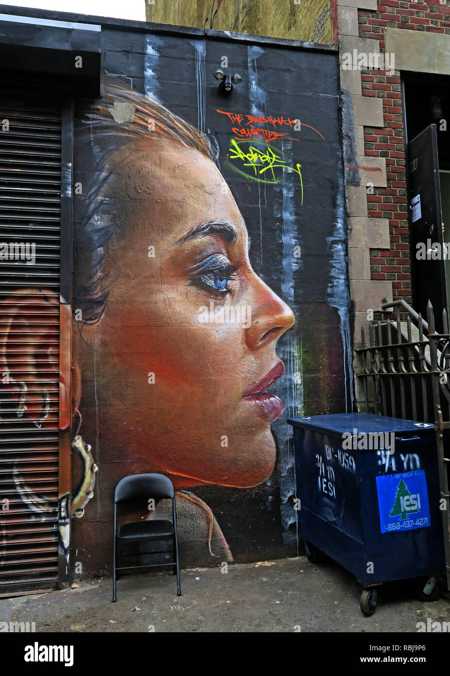 Face Art, East Village, New York City, NYC, NY, USA - Stock Image