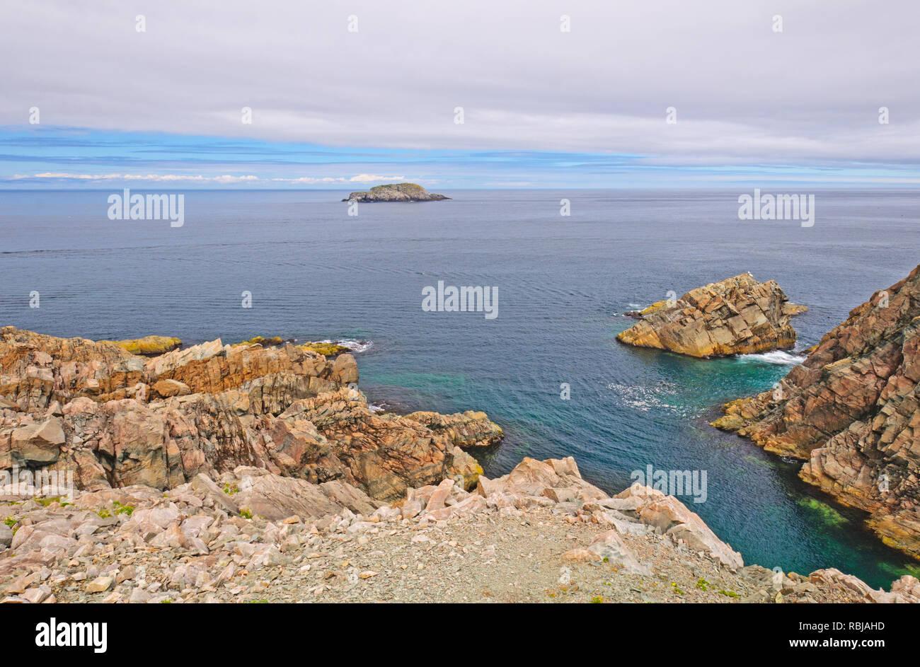 Ocean Vista at Cape Bonavista, Newfoundland - Stock Image