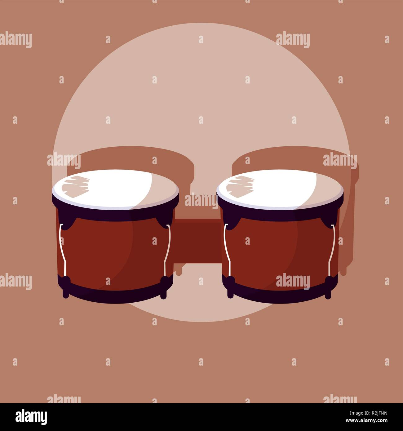 timbals tropical instrument icon vector illustration design - Stock Image