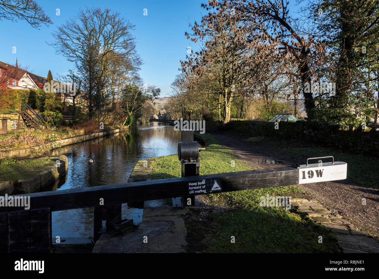 Huddersfield Narrow Canal, Greefield, Oldham, Lancashire UK. - Stock Image