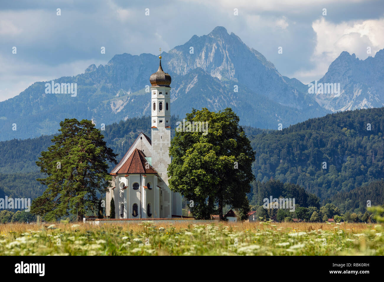 Church of St Coloman, Schwangau, Bavaria, Germany - Stock Image