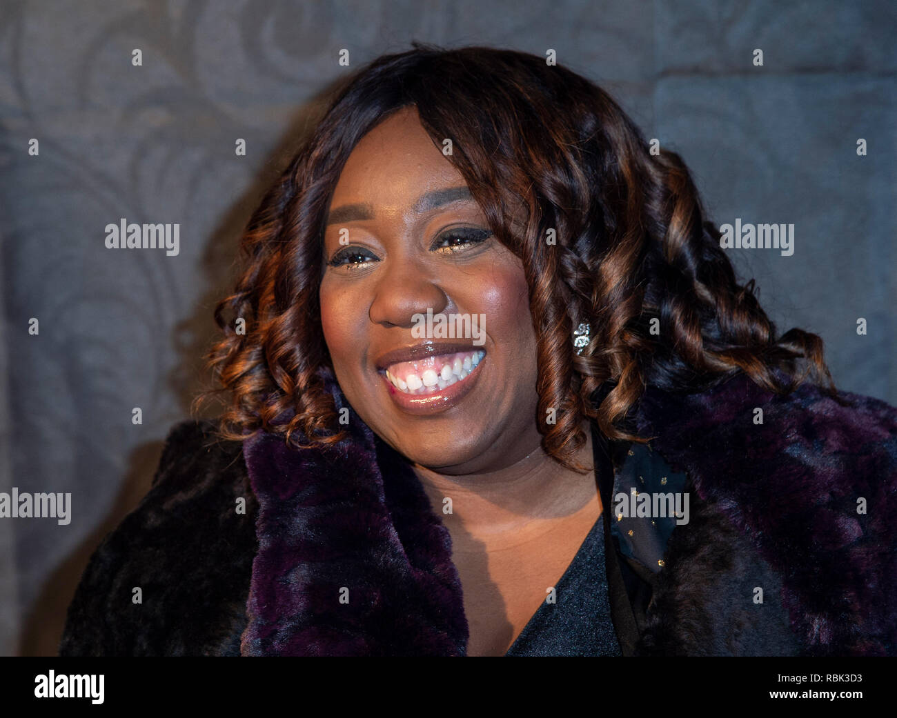 Chizzy Akudolu attends the 2019 Gold Movie Awards at Regent Street Cinema in London, England. Stock Photo
