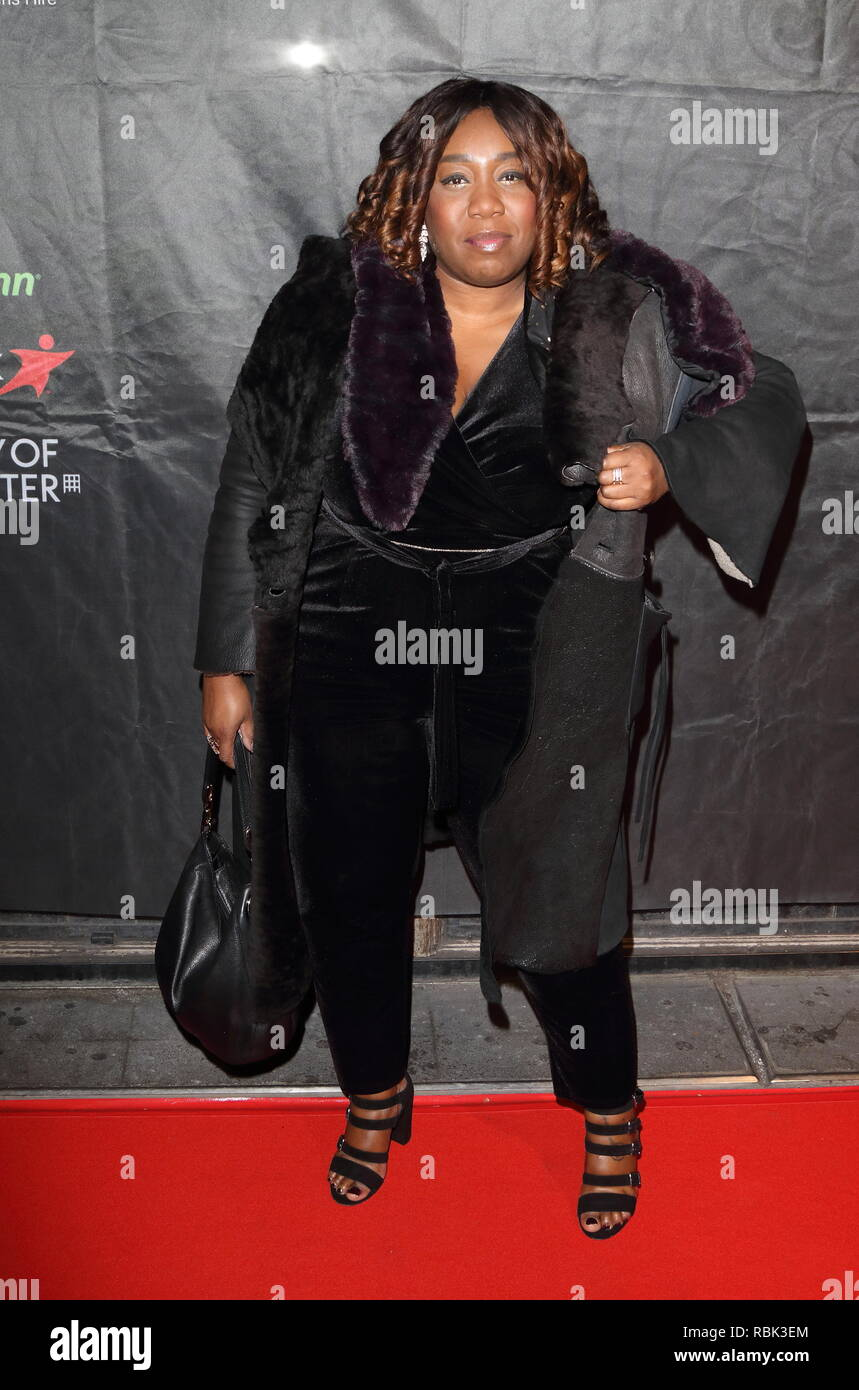 Chizzy Akudolu seen during The Gold Movie Awards at Regent Street Cinema in London. Stock Photo