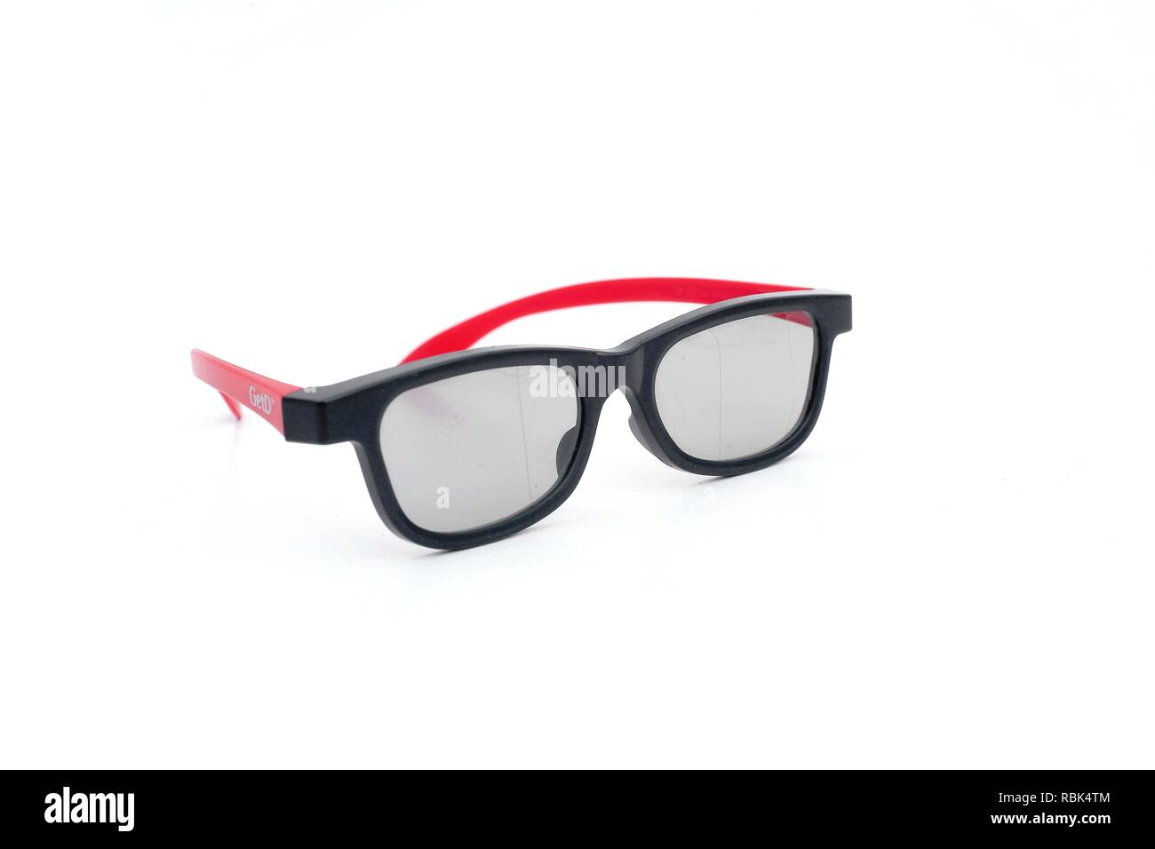Photo Of Eye Glasses Isolated On The White Background Stock