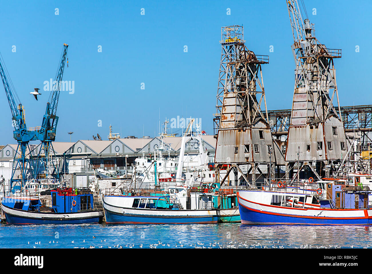 At the waterfront in Cape Town - Stock Image