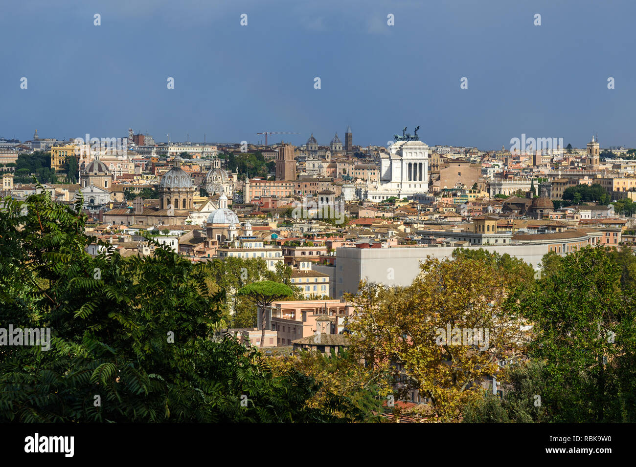 Janiculum Hill Rome Stock Photos Janiculum Hill Rome Stock