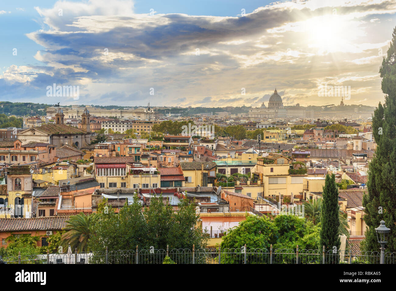 View From Belvedere Italy Stock Photos View From Belvedere
