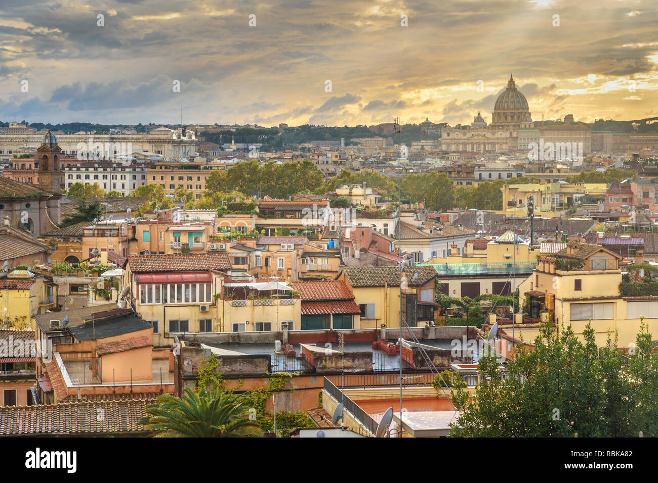 View On Rome City With St Peter S Basilica Vatican From
