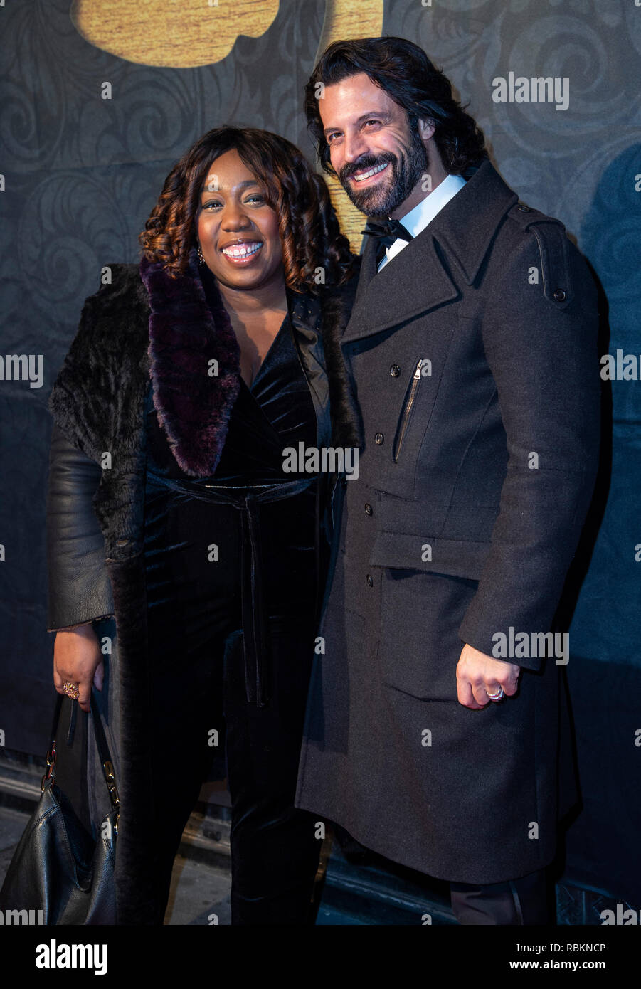 London, UK. 10th Jan 2019. Chizzy Akudolu and Christian Vit attend the 2019 'Gold Movie Awards' at Regent Street Cinema on January 10, 2019 in London, England Credit: Gary Mitchell, GMP Media/Alamy Live News Stock Photo