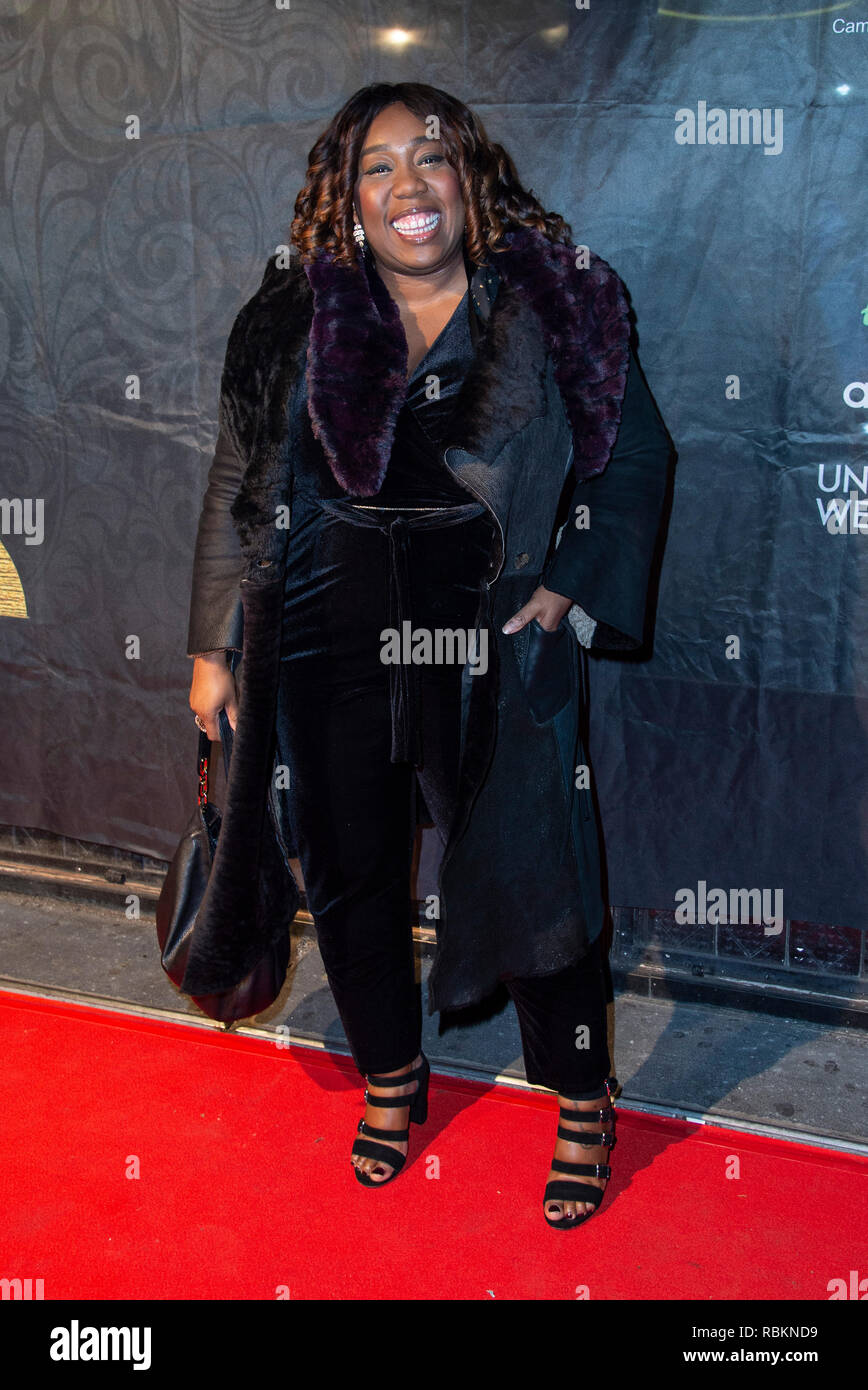 London, UK. 10th Jan 2019. Chizzy Akudolu attends the 2019 'Gold Movie Awards' at Regent Street Cinema on January 10, 2019 in London, England Credit: Gary Mitchell, GMP Media/Alamy Live News Stock Photo