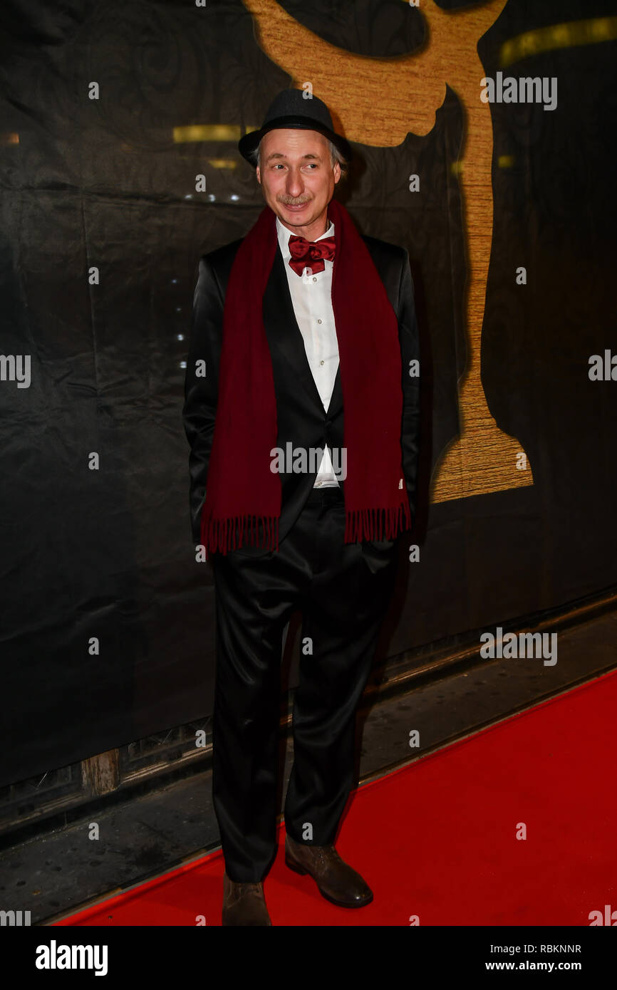 London, UK. 10th Jan 2019. Alessandro Negrini attends Arrivers at The Gold Movie Awards at Regent Street Cinema on 10 January 2019, London, UK. Credit: Picture Capital/Alamy Live News Stock Photo