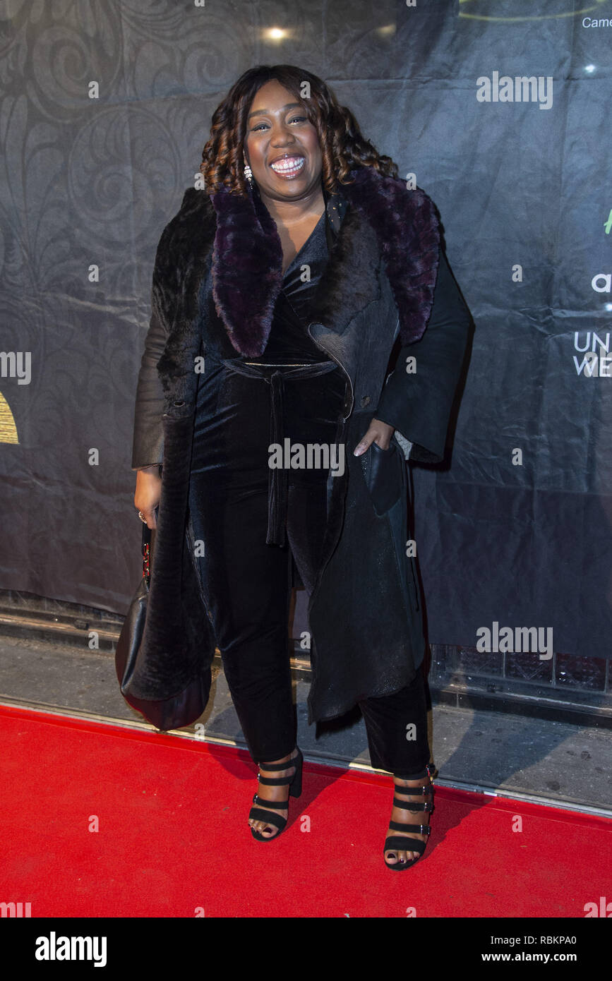 London, UK. 10th Jan, 2019. Chizzy Akudolu attends the 2019 Gold Movie Awards at Regent Street Cinema in London, England. Credit: Gary Mitchell/SOPA Images/ZUMA Wire/Alamy Live News Stock Photo