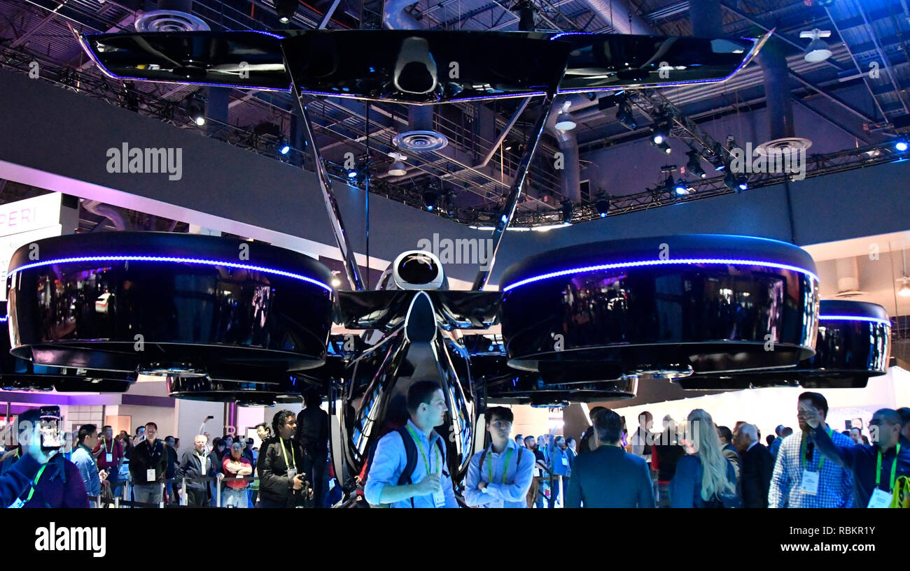 Bell Nexus a life size drone craft on display during the