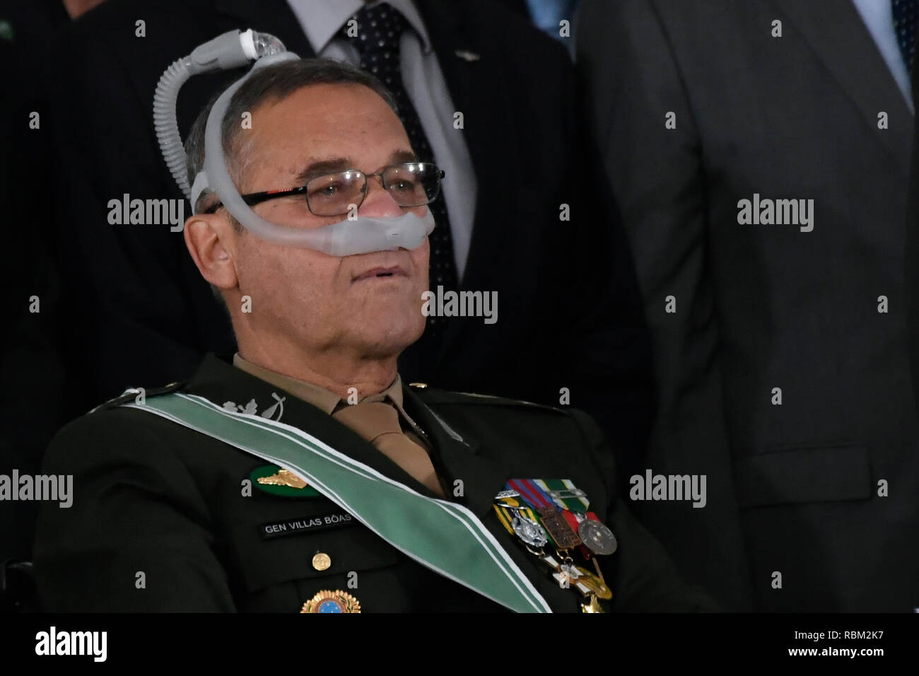 DF - Brasilia - 10/01/2019 - Possession of the commander-in-chief of the Army Eduardo Dias da Costa Villas Boas this Friday, January 11, during a solemnity of passage of the general command of the army of the Army General Eduardo Dias da Costa Villas Boas to the General of Army Edson Leal Pujol in a ceremony held at the Army Club. Photo: Mateus Bonomi / AGIF - Stock Image