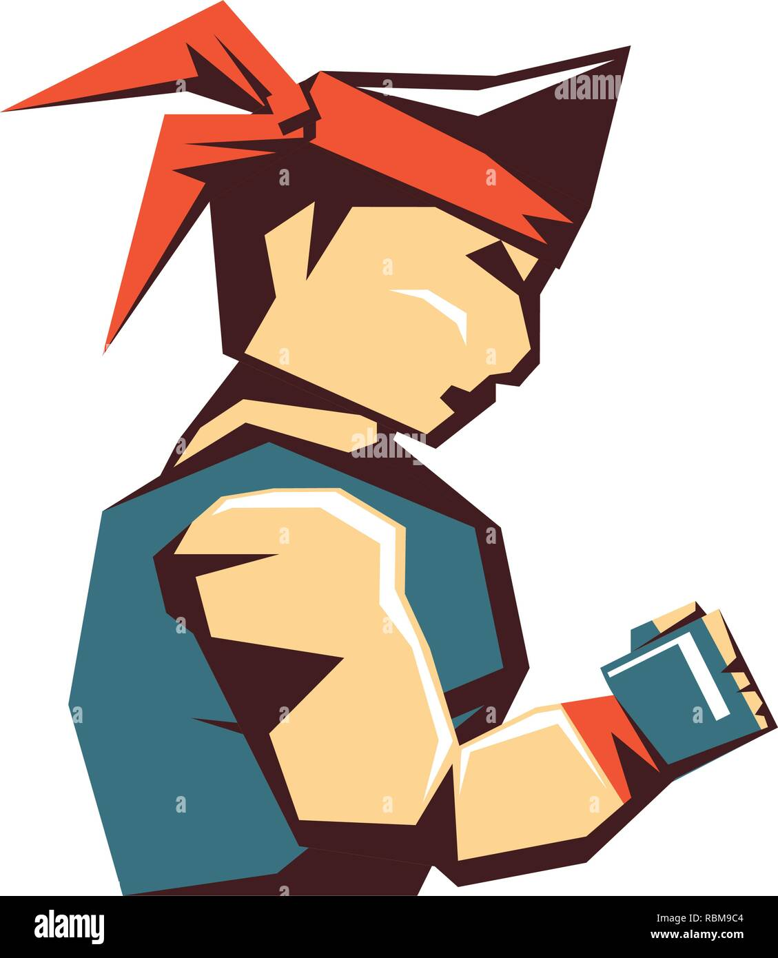 karate man avatar character vector illustration design Stock Vector