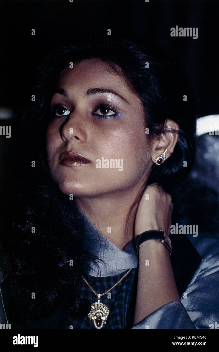 Close up of Tina Ambani, India, Asia - Stock Image