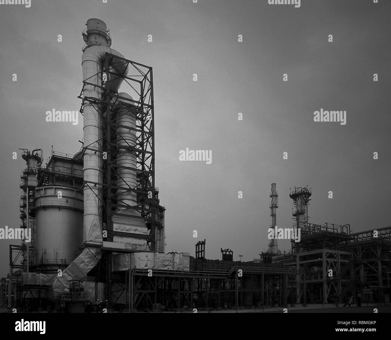 Indian Oil Corporation Limited refinery, Gujarat, India, Asia - Stock Image