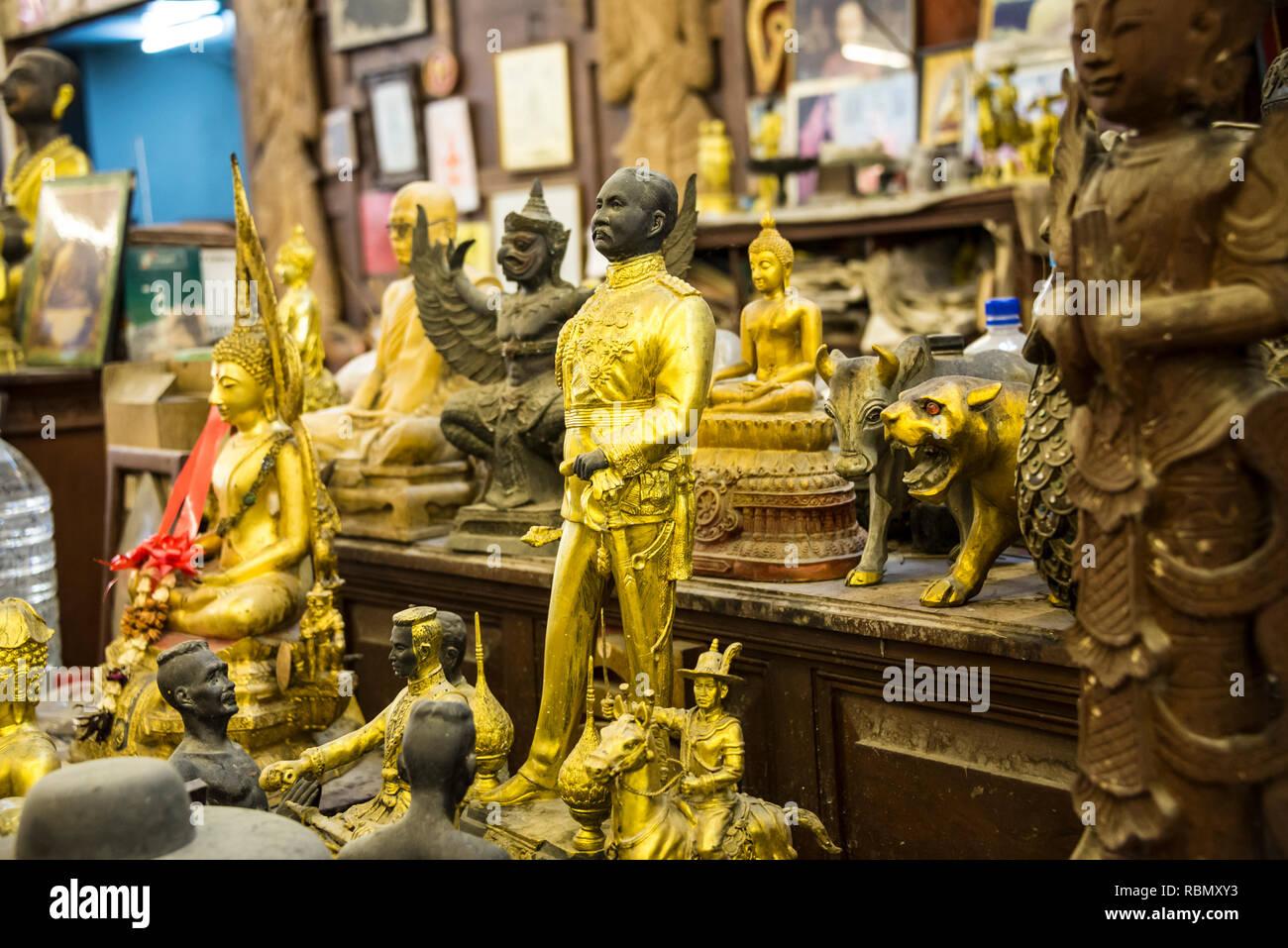 Antique shop in Patong Phuket Thailand. 15 December 2018 - Stock Image