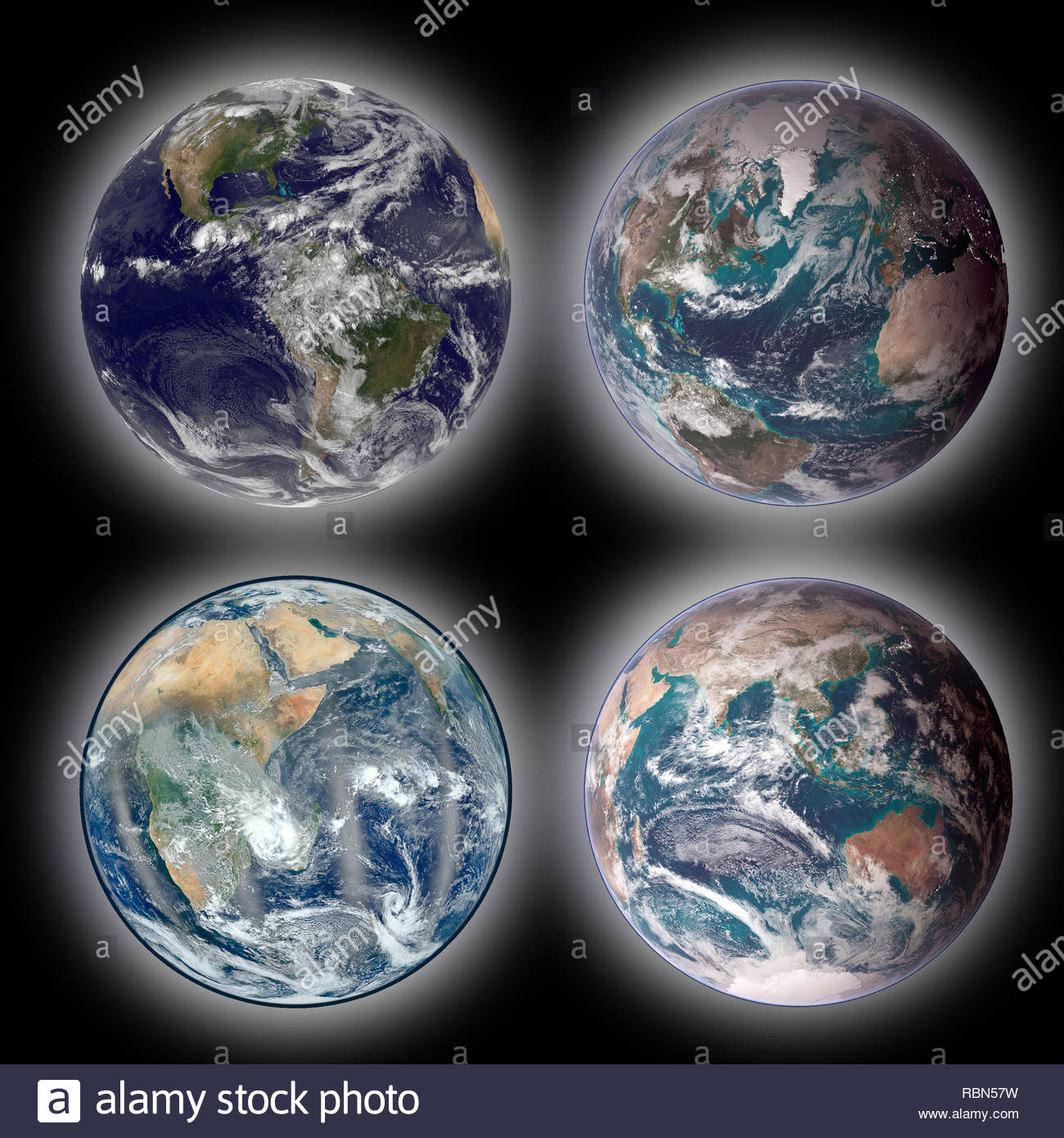 Planet Earth from space. Image elements furnished by NASA. - Stock Image