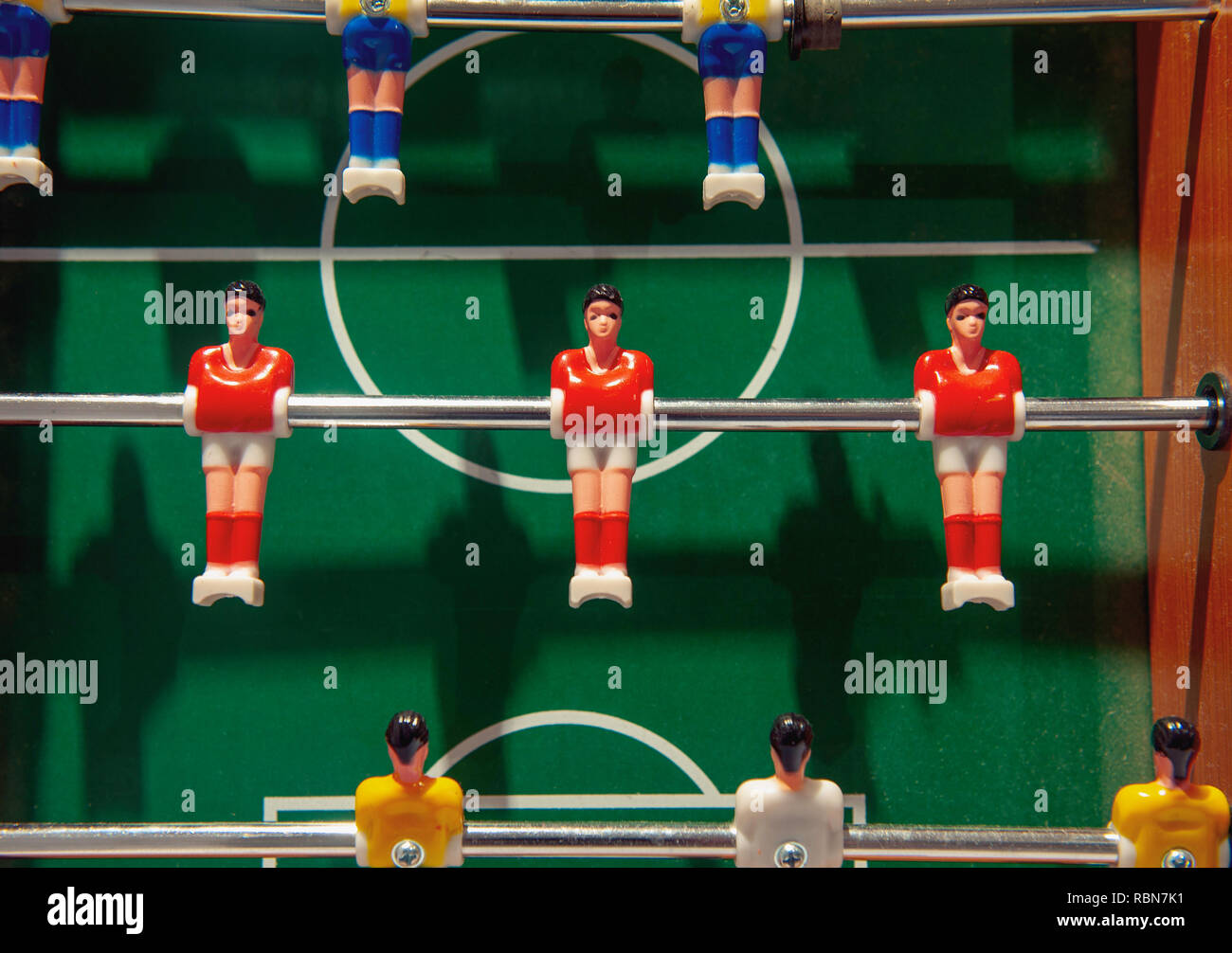 Fussball defensive line - Stock Image