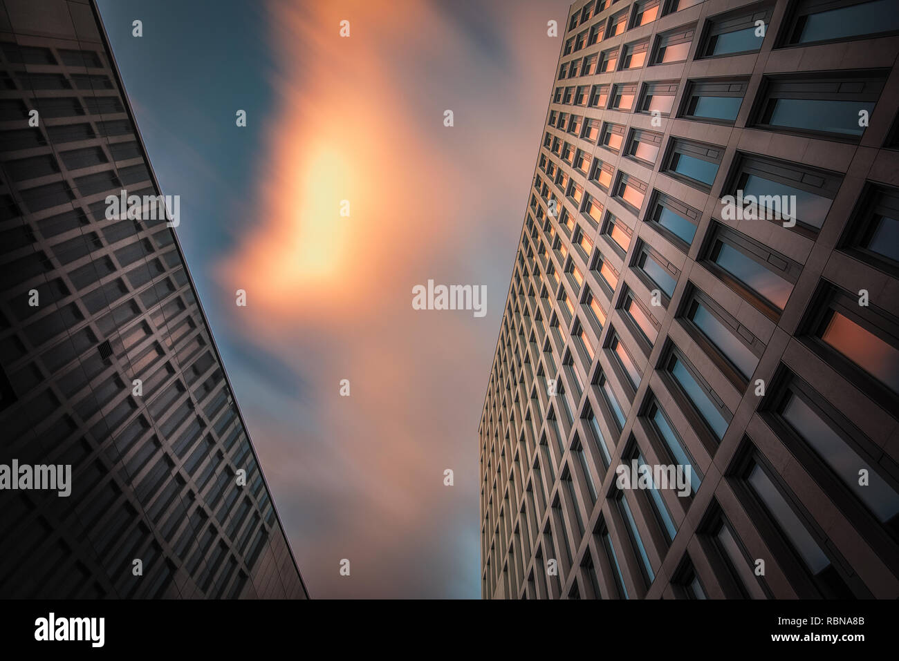 Office buildings in hanover, germany Stock Photo