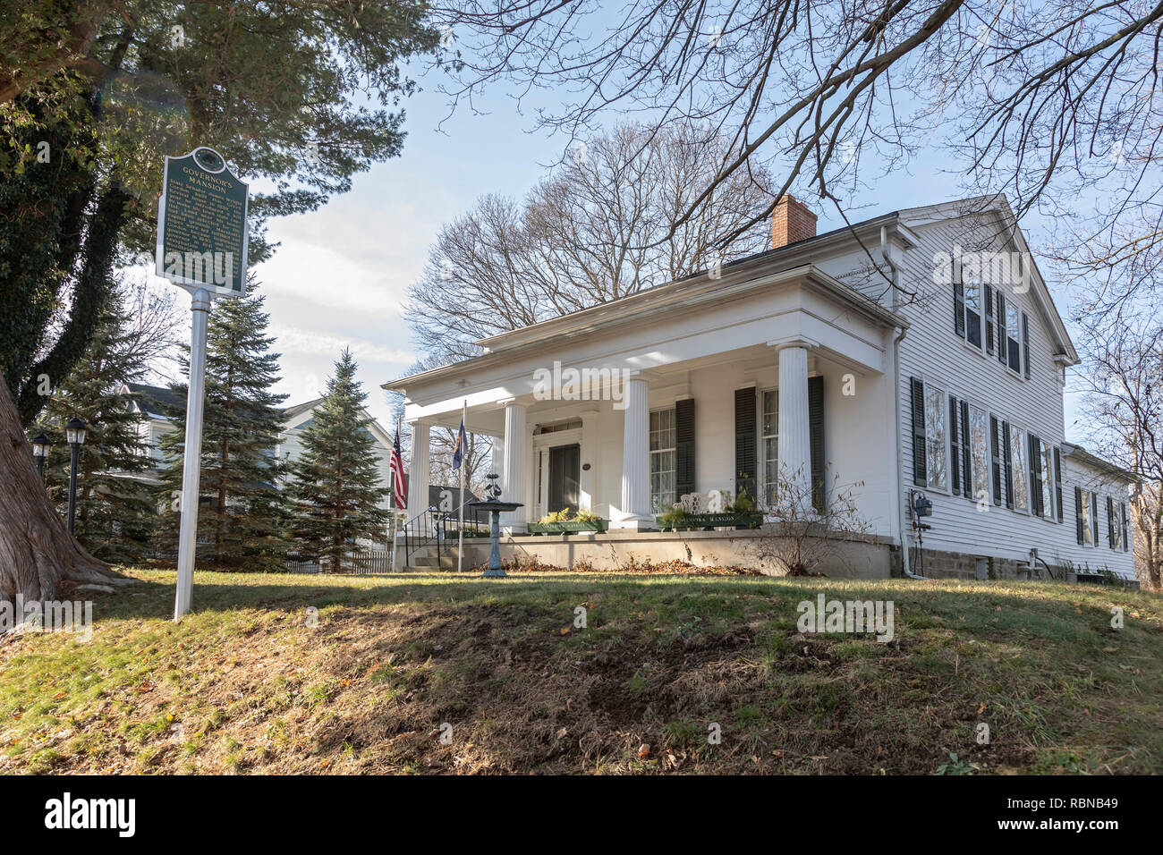 Marshall, Michigan - The Governor's Mansion, built in 1839 when the city leaders expected Marshall to be designated Michigan's capital. Instead, Lansi - Stock Image