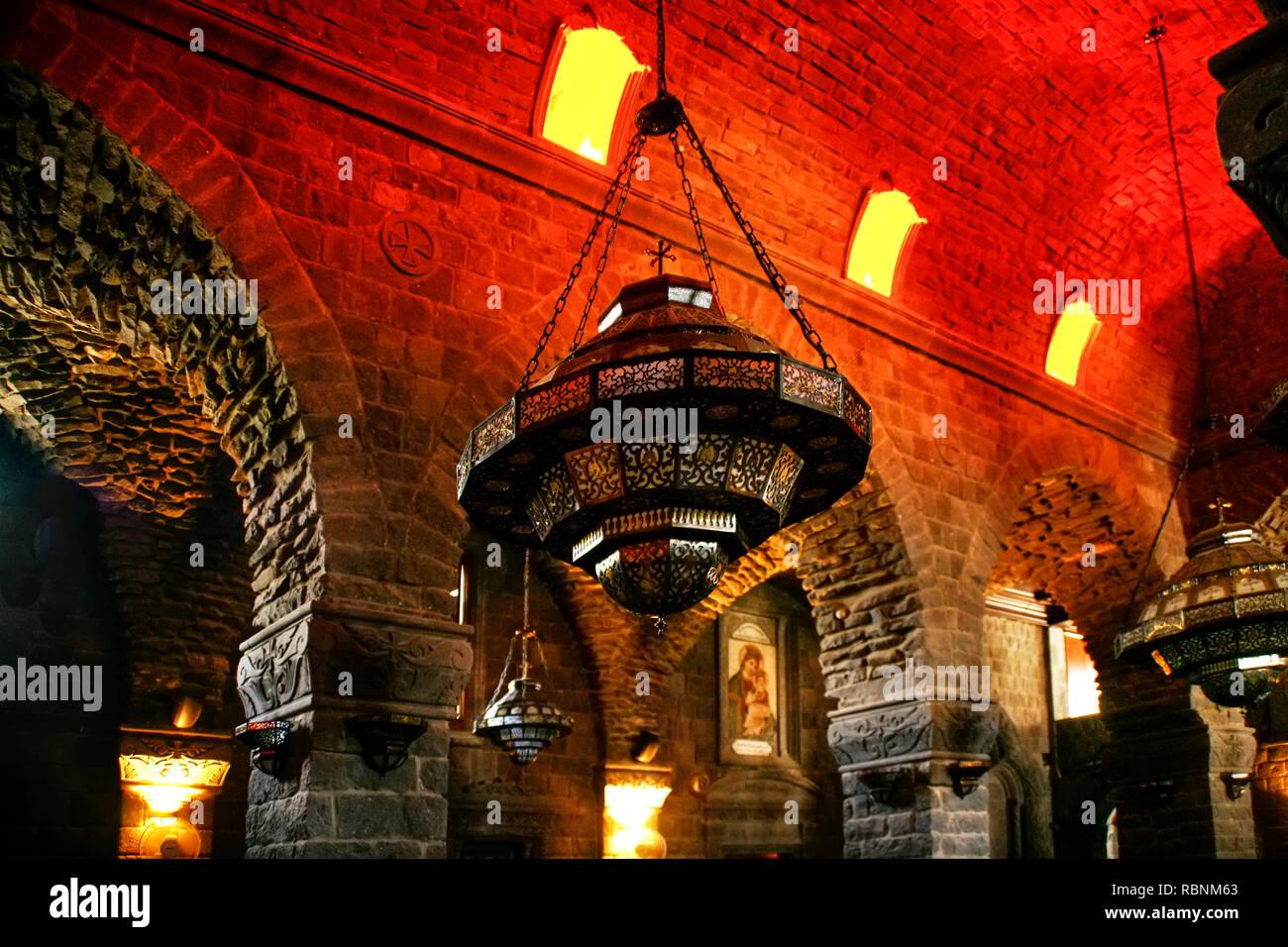 Eglise de Notre Dame de la ceinture Syrienne de la Vierge. Homs. Syria, Middle East - Stock Image