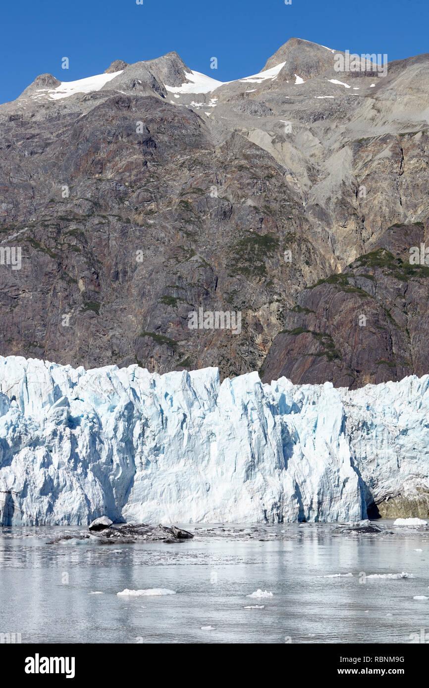 Detail Of Glacier In Glacier Bay Alaska USA - Stock Image