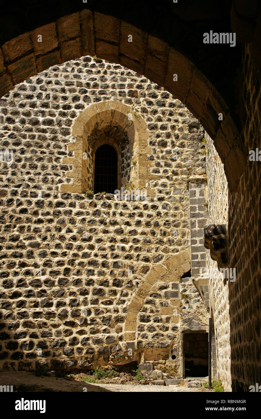 Chapel, The Margat castle of the crusaders. Marqab, Syria, Middle East - Stock Image