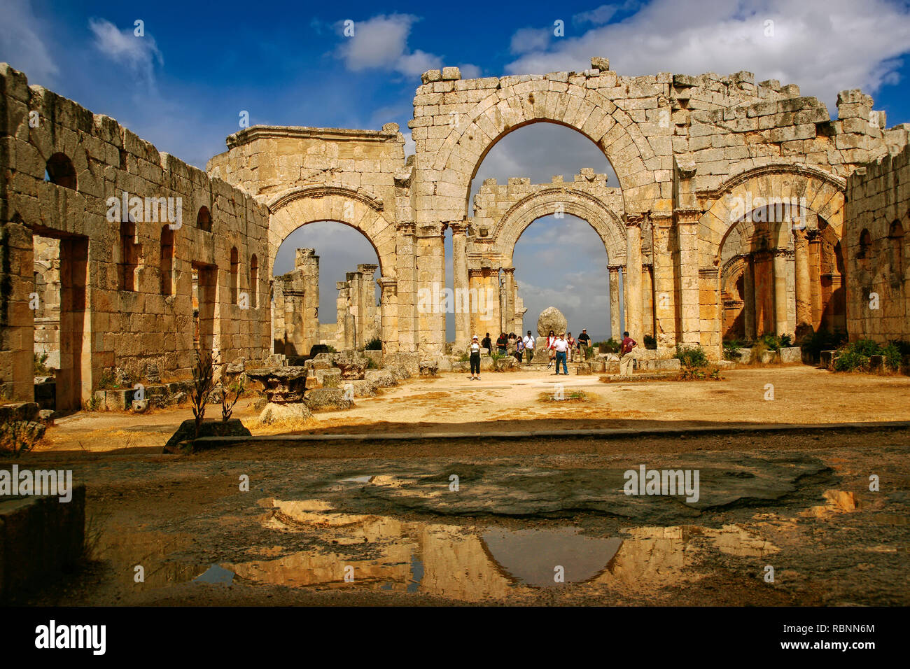 Basilique at the citadelle of Saint Simeon the Stylist, Qa´laat Samaan. Syria, Middle East - Stock Image