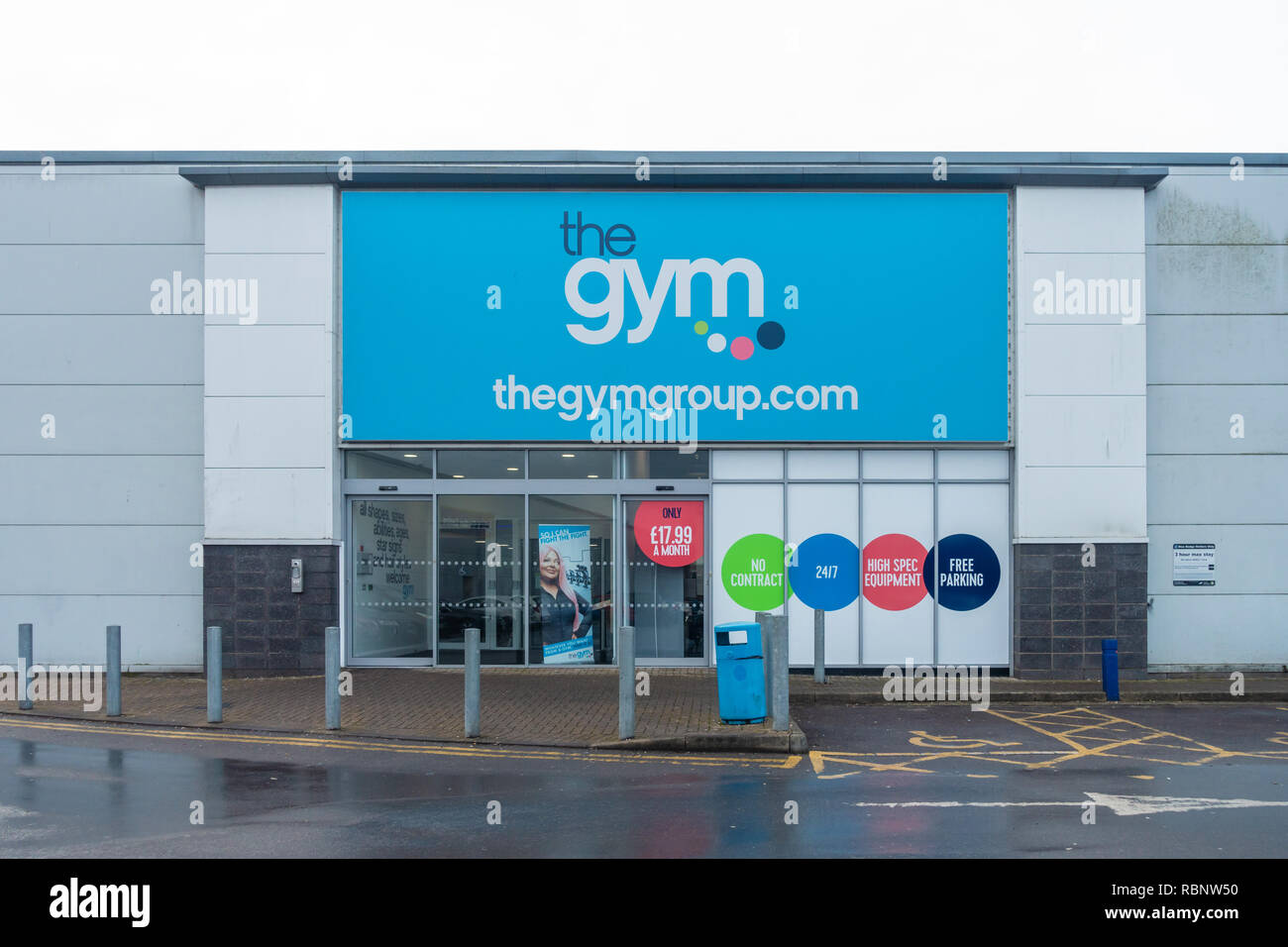 'The Gym; at Reading Retail Park on the Oxford Road in Reading, UK - Stock Image