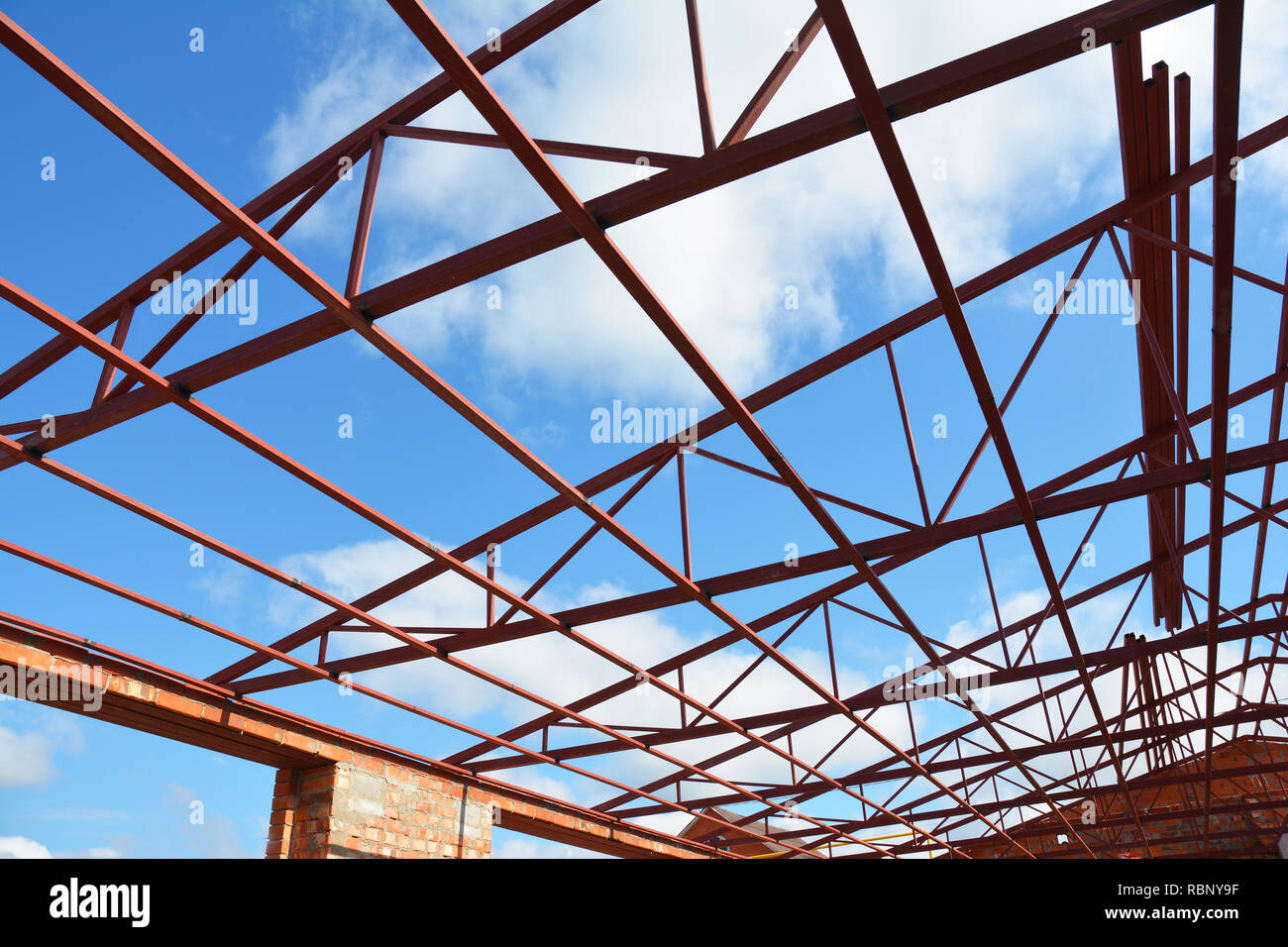 Steel Roof Trusses Stock Photos Steel Roof Trusses Stock Images