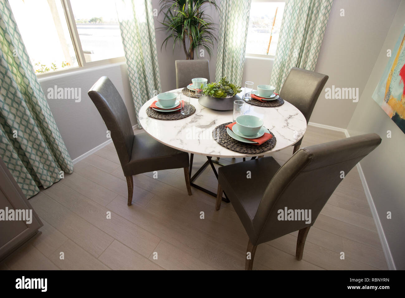 Fantastic Round Table And Chairs Stock Photos Round Table And Chairs Short Links Chair Design For Home Short Linksinfo