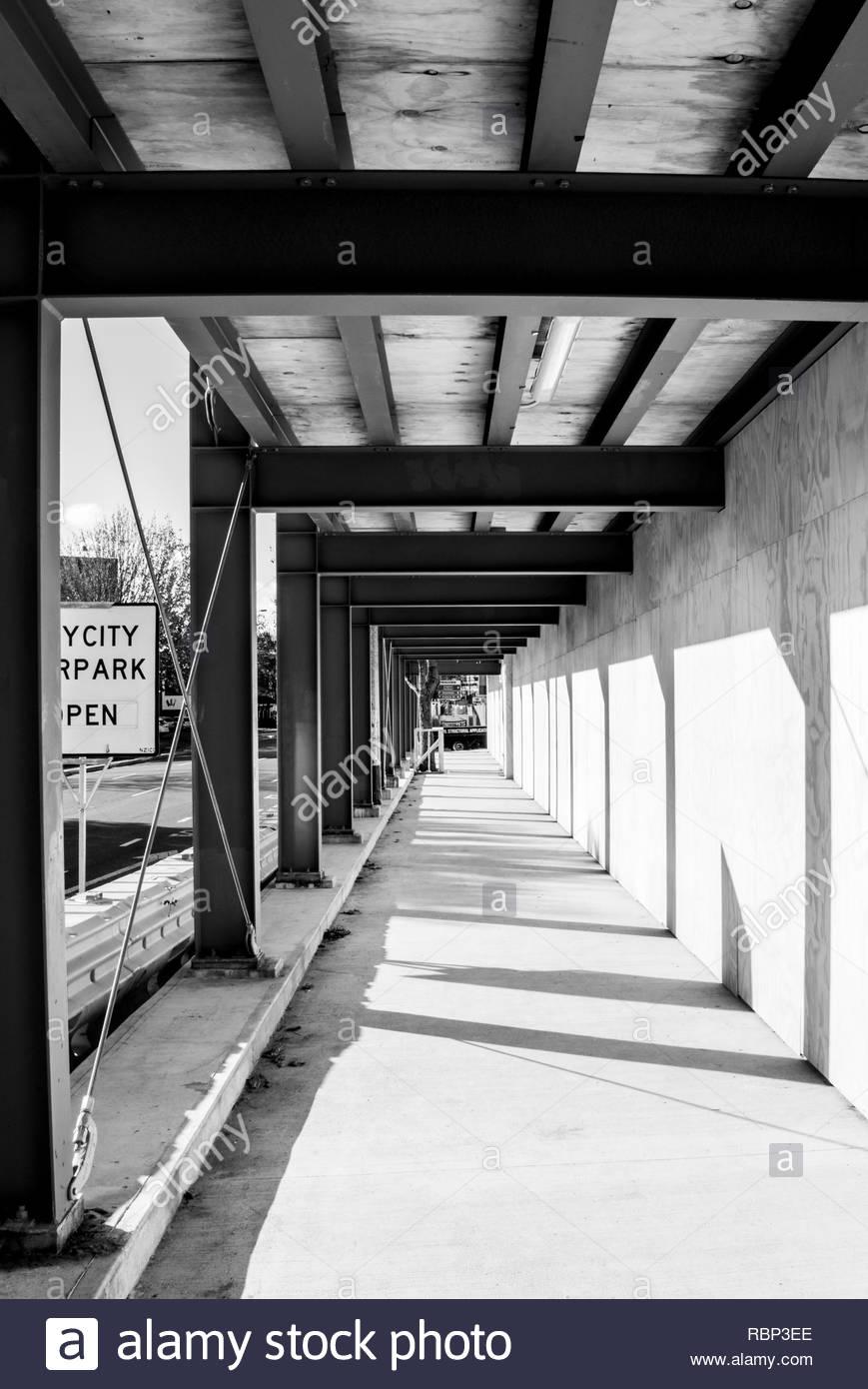 Building site pedestrian walkway - Stock Image