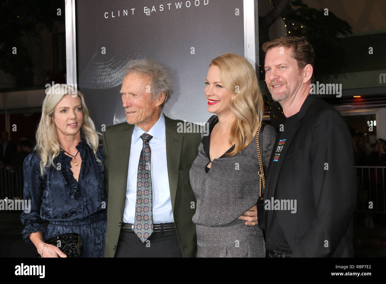 """""""The Mule"""" World Premiere at the Village Theater on December 10, 2018 in Westwood, CA  Featuring: Christina Sandera, Clint Eastwood, Alison Eastwood, Stacy Poitras Where: Westwood, California, United States When: 10 Dec 2018 Credit: Nicky Nelson/WENN.com Stock Photo"""