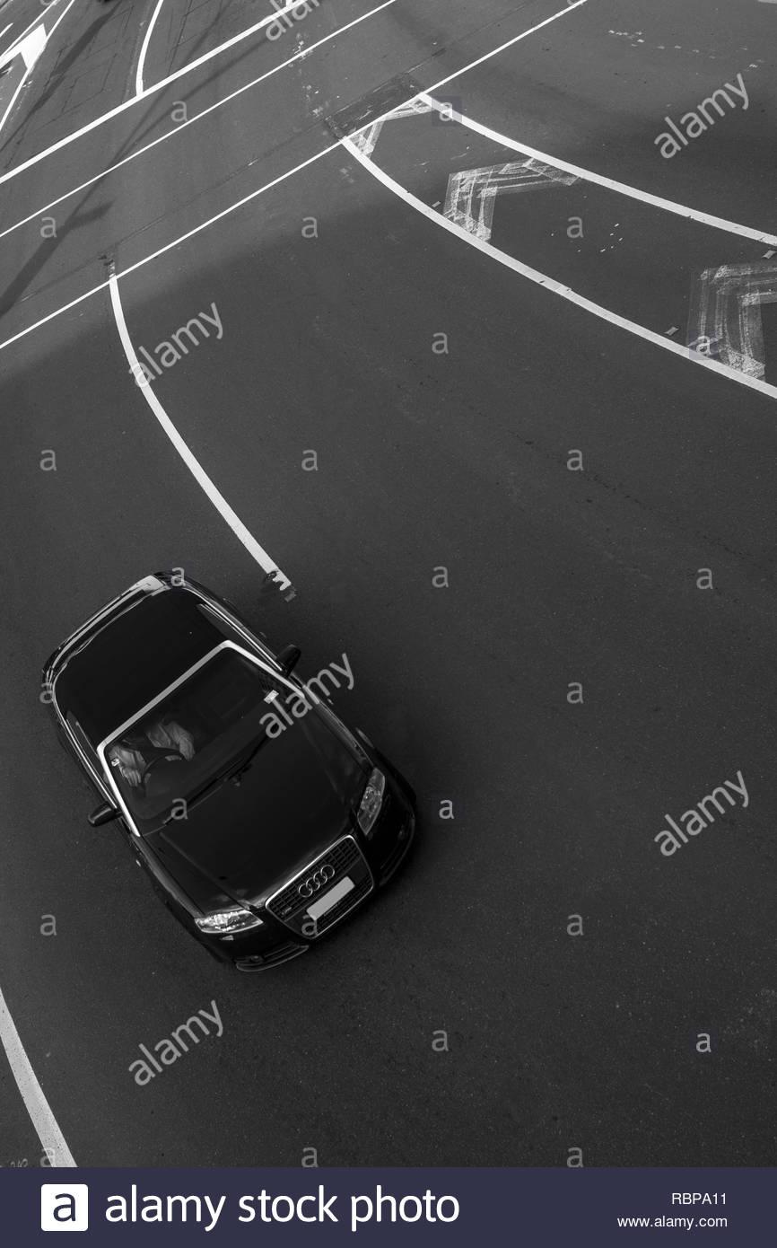 Car from bridge - Stock Image