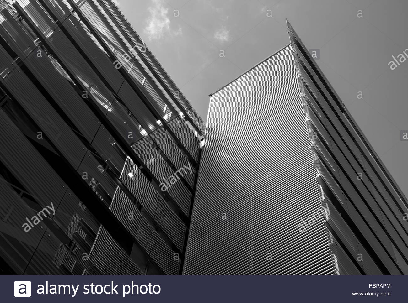 Low angle of university building - Stock Image