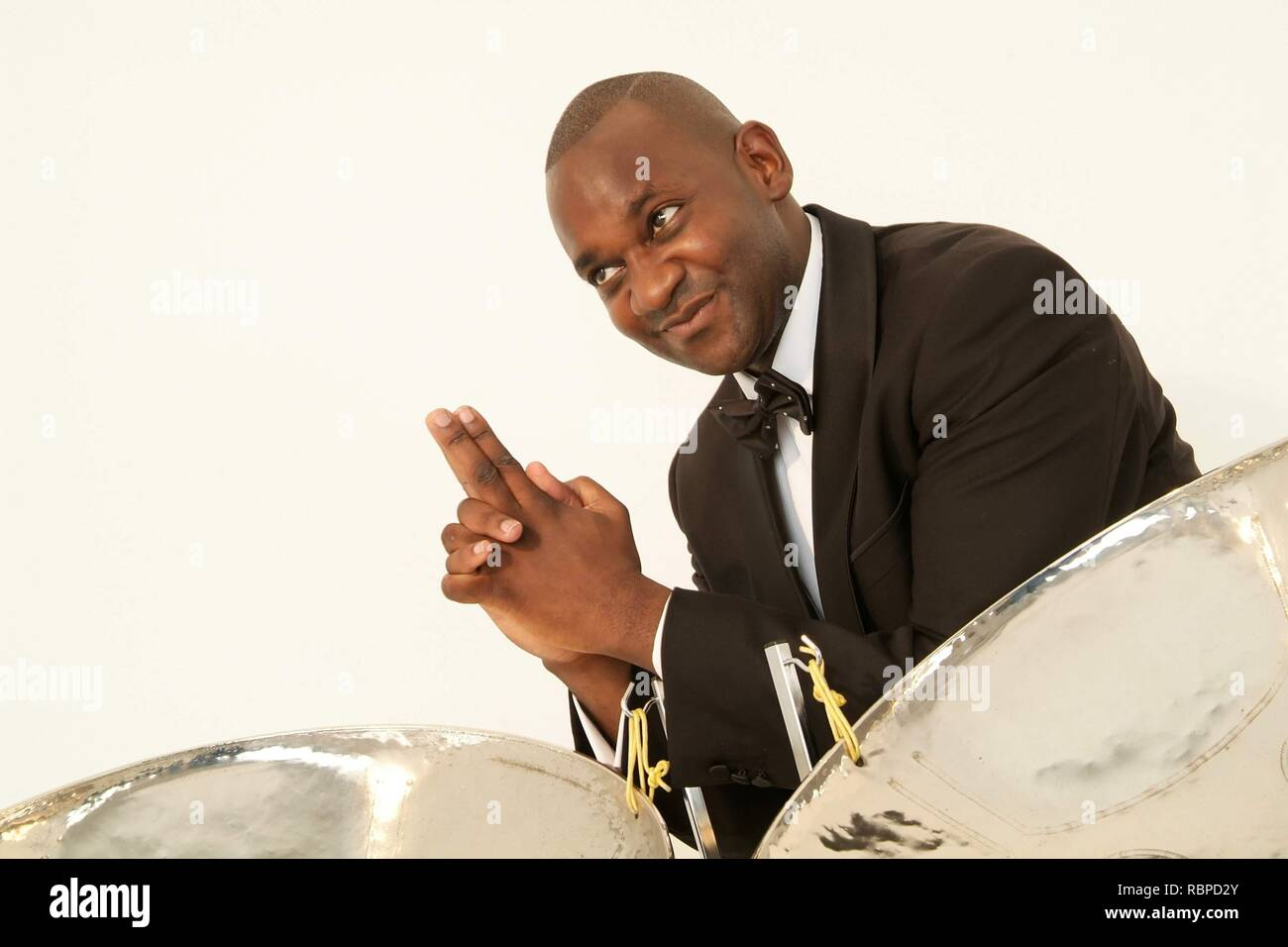 'We bring the Caribbean to you' Steelasophical Steel Band & Dj. Gary Trotman from Steelasophical Steel Band Dj hire in the UK. https://steelband.co.uk - Stock Image