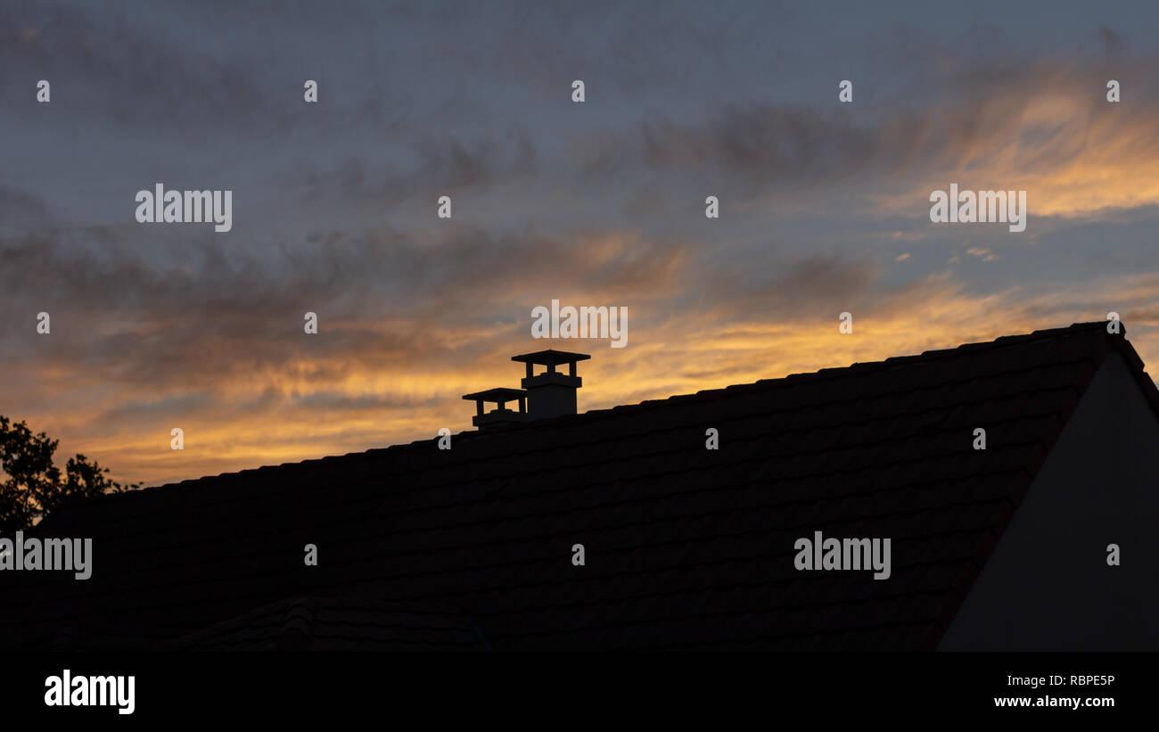 Chimney Silhouette Stock Photos Amp Chimney Silhouette Stock