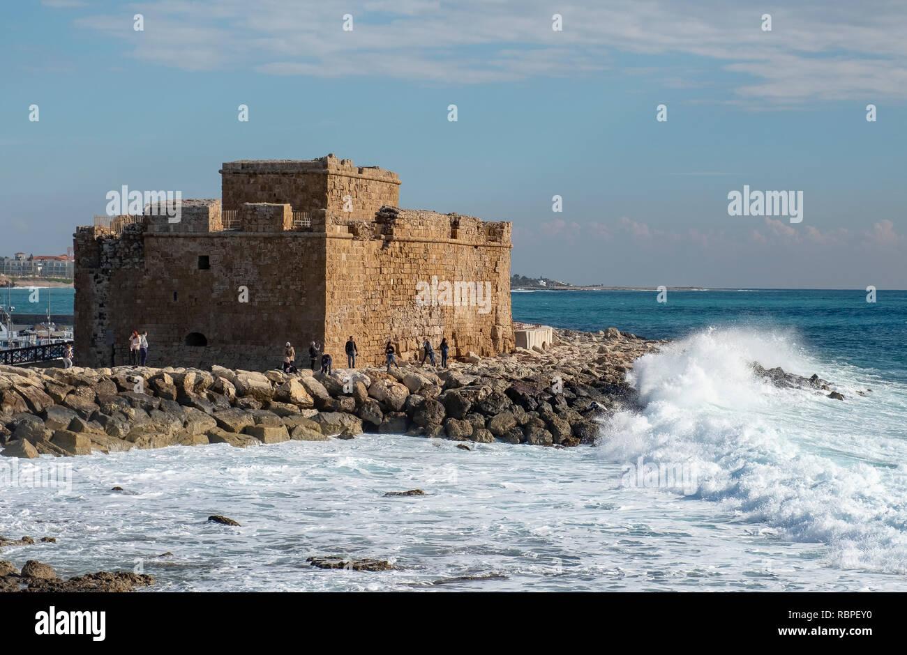 Paphos Castle, Paphos, Cyprus - Stock Image