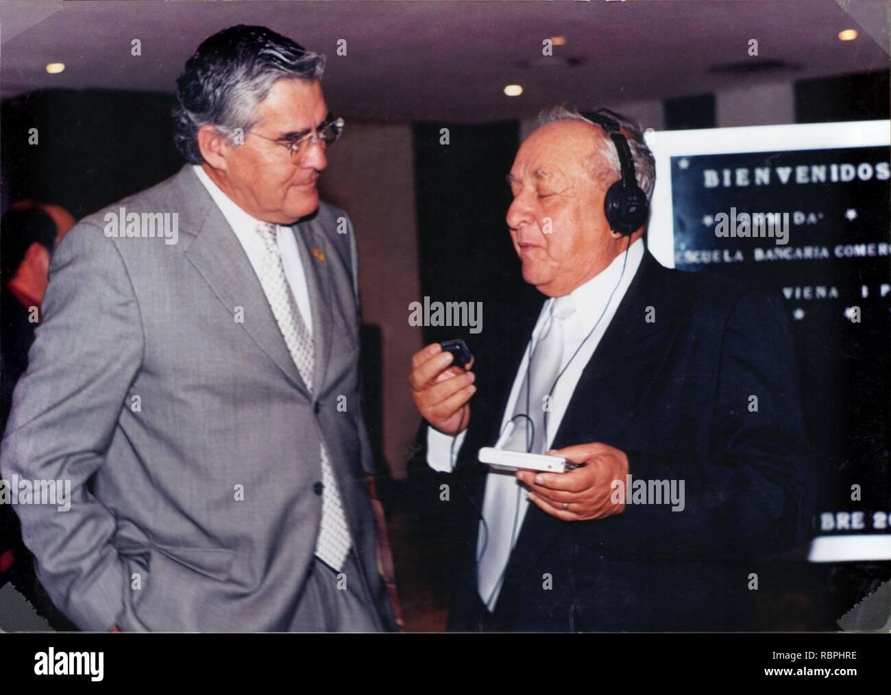 'Fray Pedro de Gubar' Pedro Gutiérrez Barragán con Nelson Vargas. Stock Photo