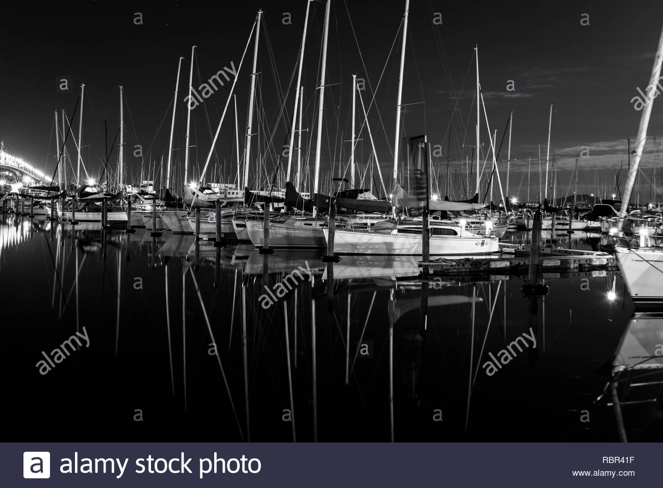 Boats in Auckland Harbour - Stock Image
