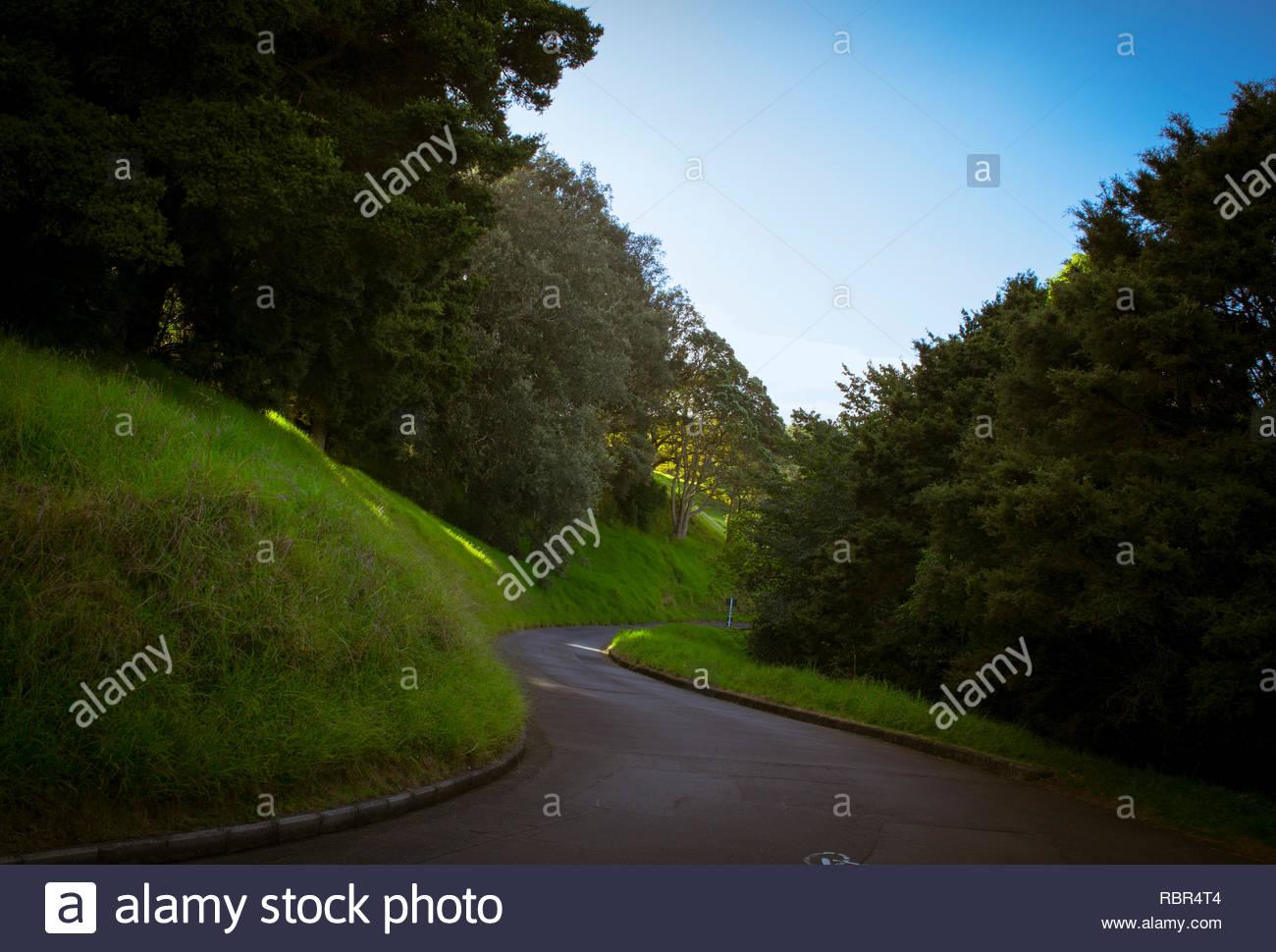 Road up Mt Eden - Stock Image