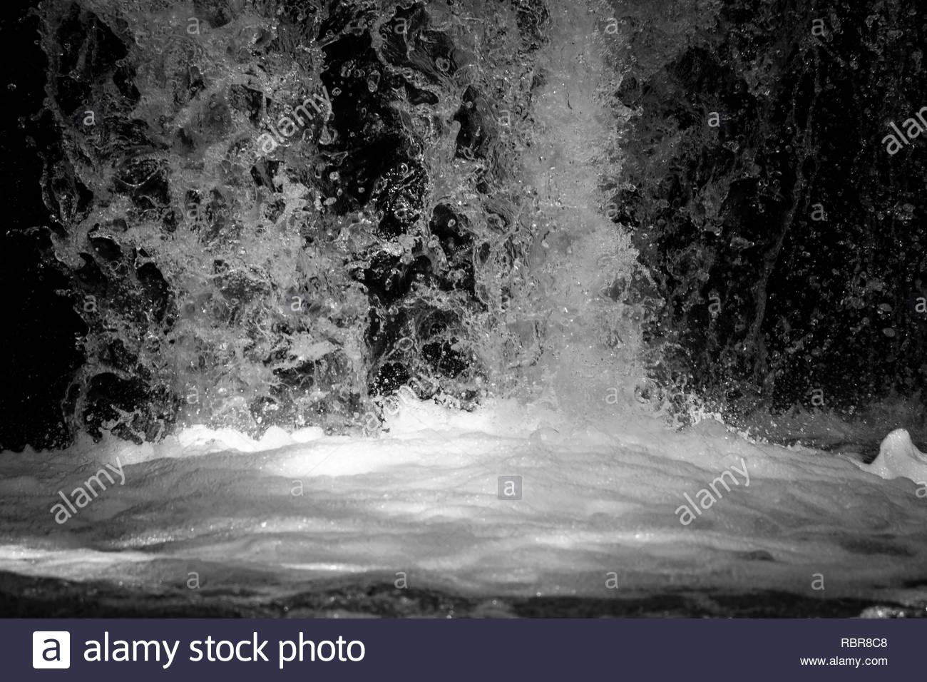Fern Flat Waterfall - Stock Image