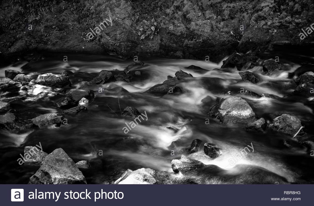 Rapids at Fern Flat Waterfall - Stock Image