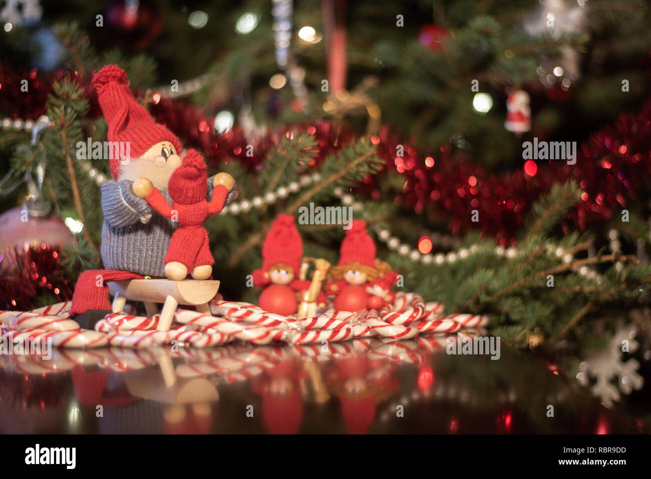 Dd Christmas.Christmas Decorations Hand Made From Europe Stock Photo