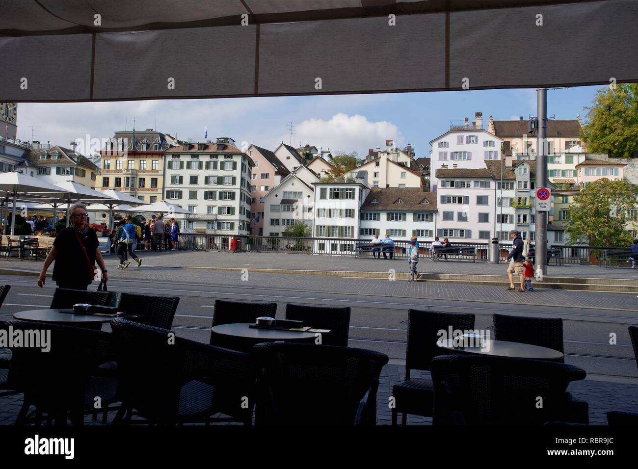 Limmatquai, Zürich, Switzerland - Stock Image