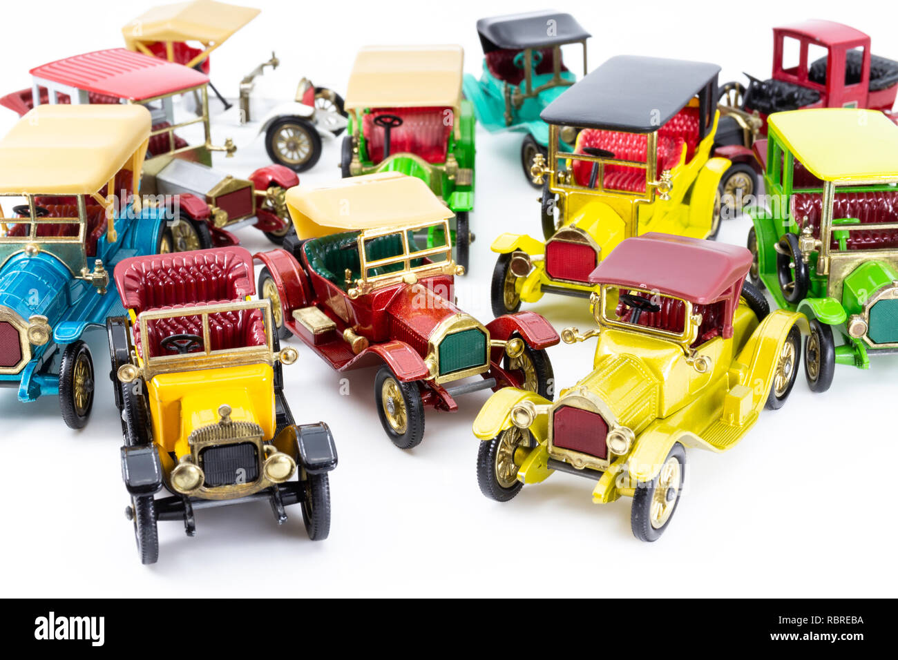 Collection of Matchbox Models of Yesteryear cars - Stock Image