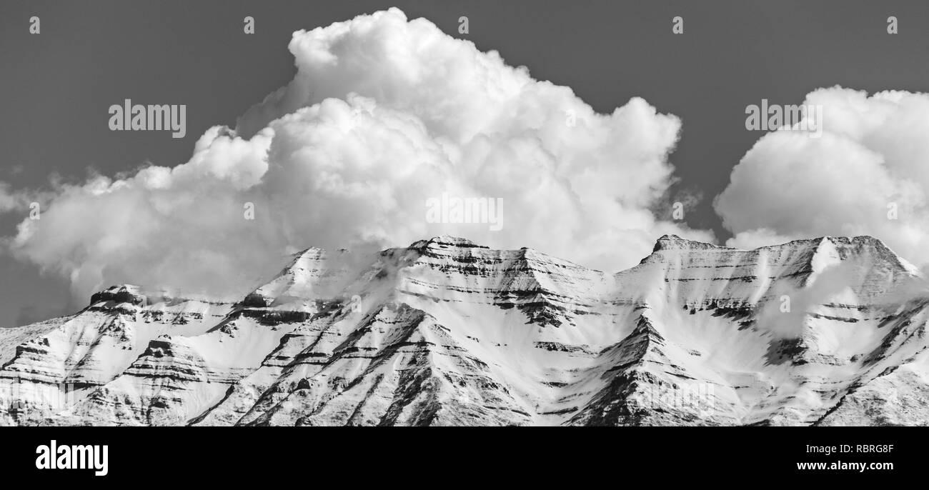 Mount Timpanogos in the spring - Stock Image